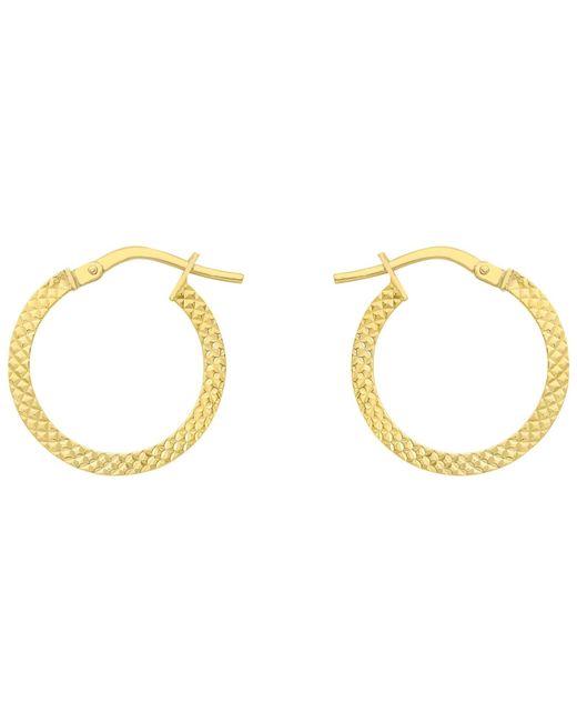 Ib&b | Metallic 9ct Gold Cobra Hoop Earrings | Lyst