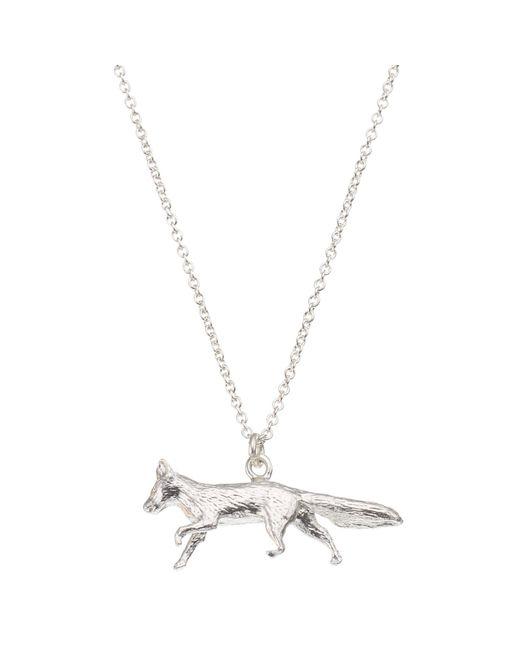 Alex Monroe | Metallic Sterling Silver Fox Pendant | Lyst