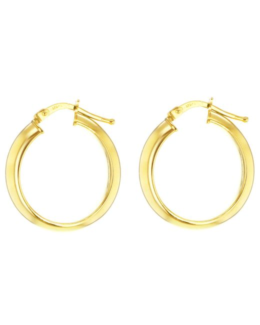 Ib&b | Metallic 9ct Yellow Gold Large Creole Hoop Earrings | Lyst