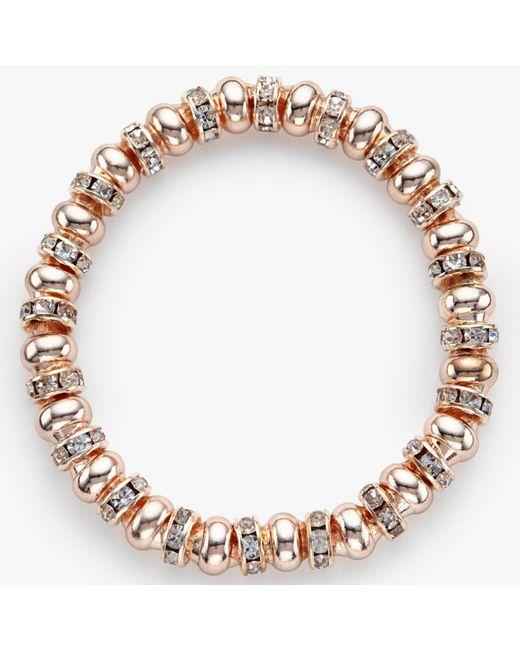 John Lewis | Multicolor Glass Pave Bead Stretch Bracelet | Lyst
