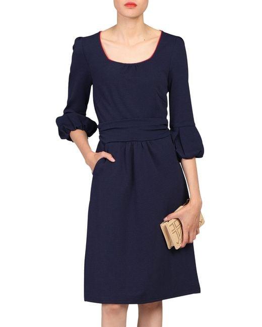 Jolie Moi Blue Boat Neck Dress