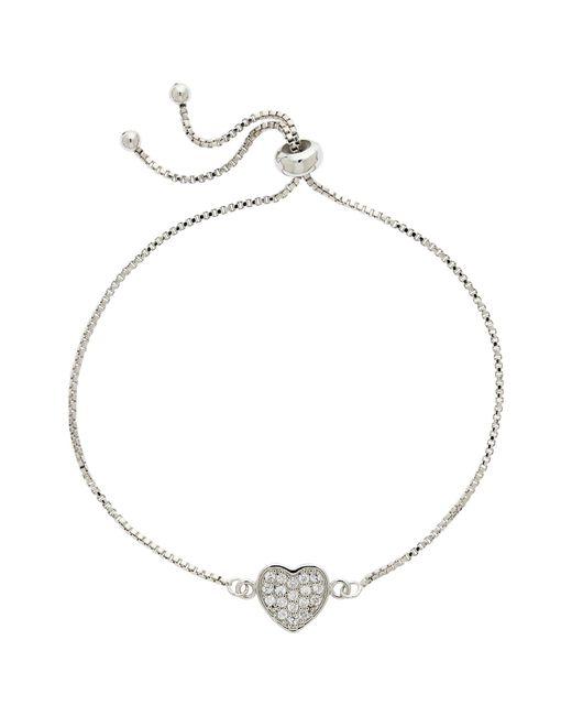 Melissa Odabash - Metallic Crystal Heart Box Chain Bracelet - Lyst