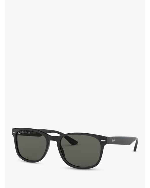 eef9da2857 Ray-Ban Rb2184 Women s Polarised Square Sunglasses in Black - Lyst