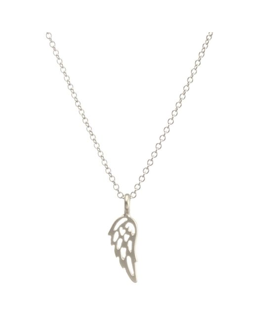 Dogeared | Metallic Angel Wing Pendant Necklace | Lyst