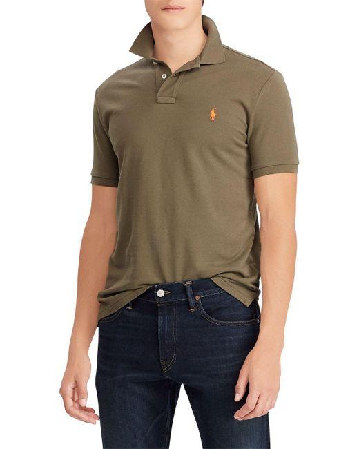 fe3369894 Ralph Lauren - Green Polo Slim Fit Stretch Mesh Polo Shirt for Men - Lyst  ...