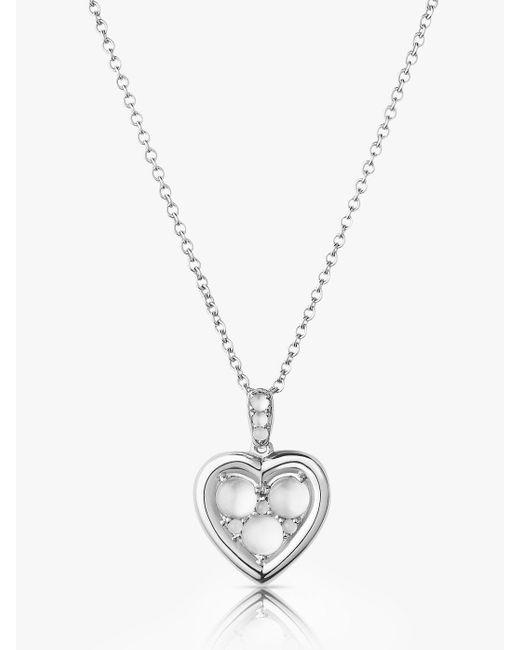 Links of London Metallic Moonstone Open Heart Pendant Necklace