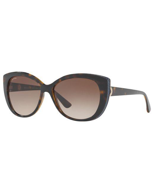 BVLGARI - Brown Bv8169q Cat's Eye Sunglasses - Lyst