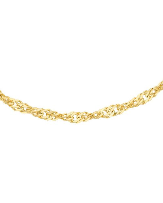 John Lewis - Ibb 18ct Yellow Gold Twist Curb Chain Necklace - Lyst