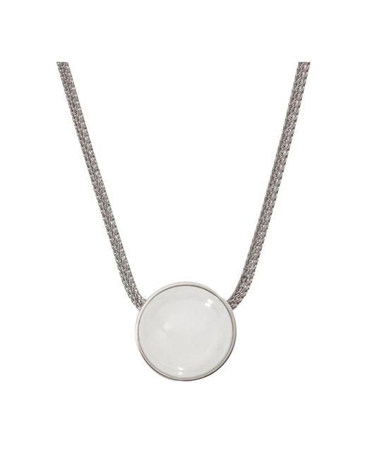 Skagen | Metallic Sea Glass Round Pendant Necklace | Lyst
