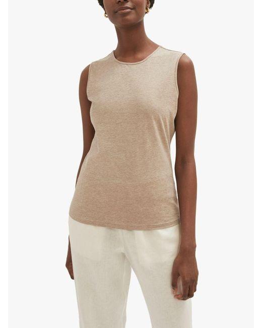 Jigsaw Natural Supima Cotton Sleeveless T-shirt
