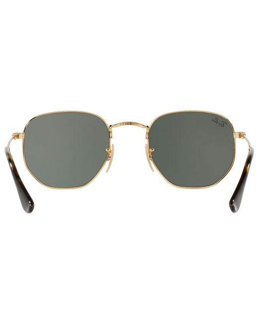 83555f5d23 ... Ray-Ban - Metallic Rb3548 Hexagonal Flat Lens Sunglasses for Men - Lyst  ...