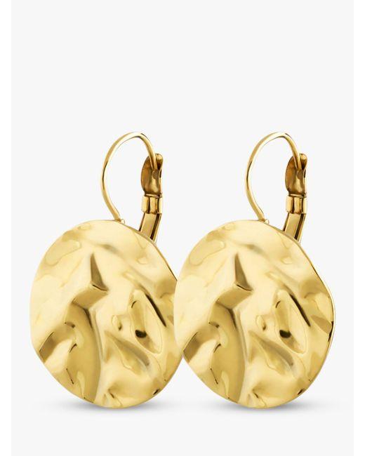 Dyrberg/Kern - Metallic Zaela French Hook Hammered Circle Drop Earrings - Lyst