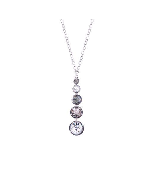 Karen Millen - Metallic Swarovski Teardrop Pendant Necklace - Lyst