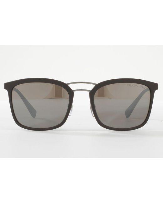 2c1aeaf75ed ... Prada - Brown Ps 03ss Polarised Square Sunglasses for Men - Lyst ...