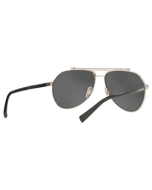 62e47566a0985 ... Lyst Dolce   Gabbana - Gray Dg2189 Aviator Sunglasses for Men ...