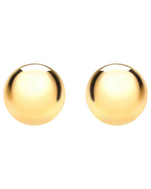 Ib&b - Metallic 9ct Yellow Gold 8mm Ball Stud Earrings - Lyst