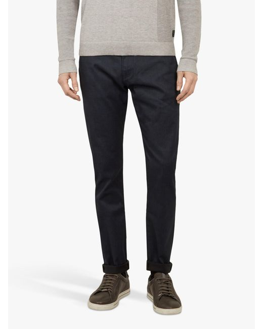7f6708db082a Ted Baker - Blue Alforon Tailored Straight Leg Jeans for Men - Lyst ...
