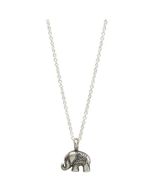 Dogeared   Metallic Lucky Elephant Pendant Necklace   Lyst