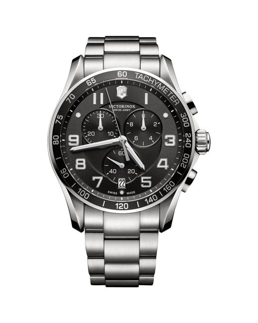 Victorinox | Metallic 241650 Men's Classic Xls Chronograph Bracelet Strap Watch for Men | Lyst