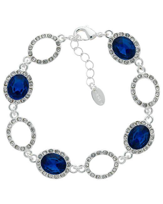Monet   Blue Glass Crystal Pave Bracelet   Lyst