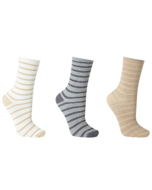 John Lewis | Multicolor Sparkle Stripe Roll Top Ankle Socks | Lyst