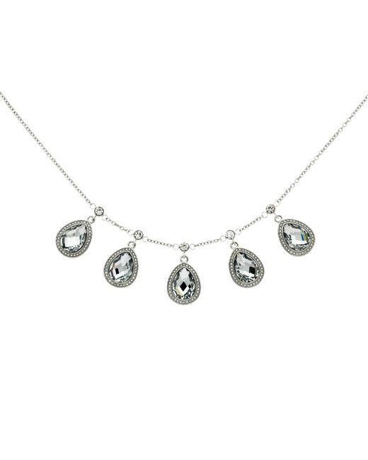 Monet | Metallic Teardrop Glass Crystal Necklace | Lyst