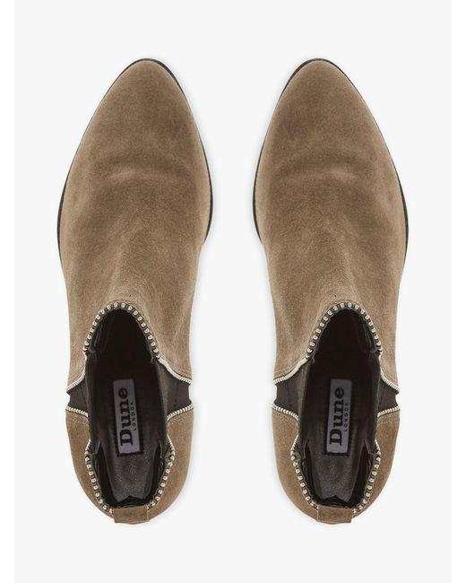 Dune Denim Portobello Stud Ankle Boots