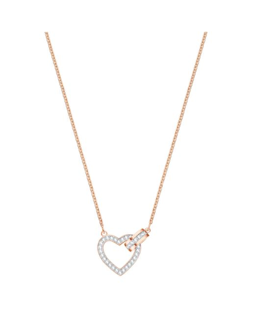 Swarovski - Metallic Lovely Crystal Heart Pendant Necklace - Lyst