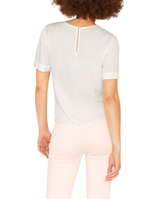 82fab4072800 ... Oasis - White Tie Front T-shirt - Lyst ...