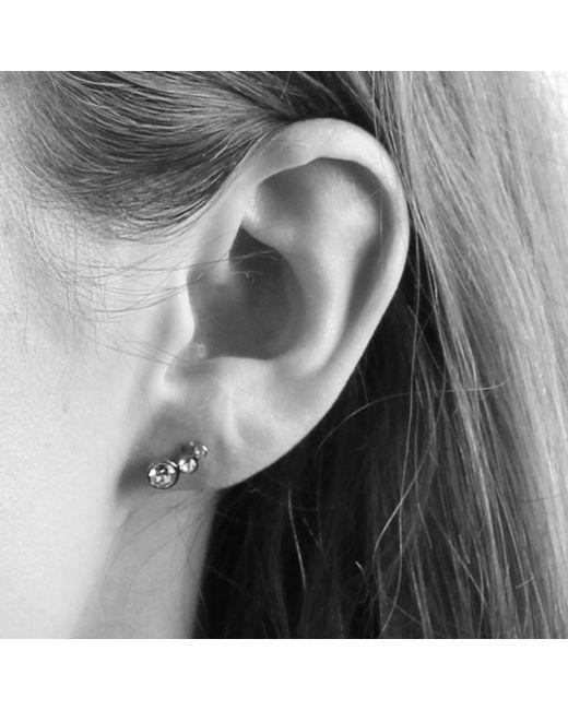 Dyrberg/Kern - Metallic Small Swarovski Crystal Stud Earrings - Lyst