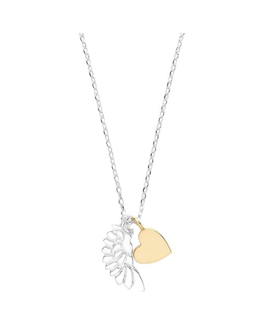 Estella Bartlett | Metallic Wing And Heart Pendant Necklace | Lyst