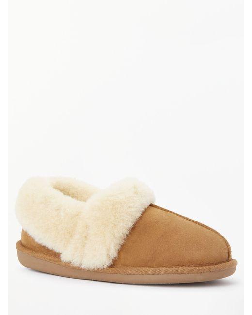 85e17ad68b41 ... John Lewis - Brown Comfort Cuff Sheepskin Slippers - Lyst ...