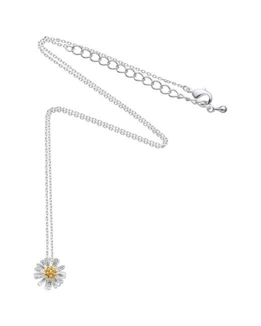 Estella Bartlett | Metallic Daisy Flower Pendant Necklace | Lyst