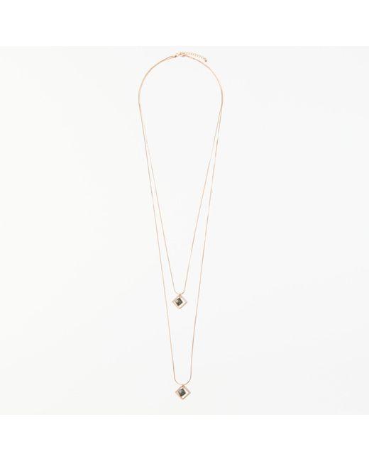 John Lewis | Metallic Double Layer Pendant Necklace | Lyst
