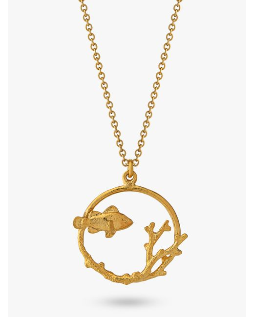 Alex Monroe Metallic Clownfish And Coral Pendant Necklace