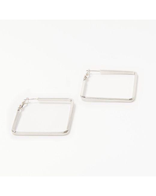John Lewis | Metallic Square Hoop Earrings | Lyst