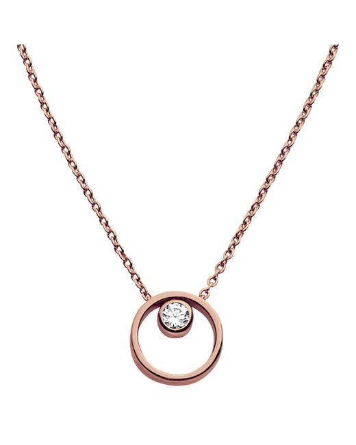Skagen - Metallic Elin Crystal Circle Necklace - Lyst