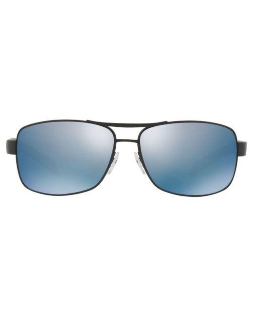 076324e5bf2 ... Prada - Blue Linea Rossa Ps 54is Polarised Rectangular Sunglasses for  Men - Lyst ...