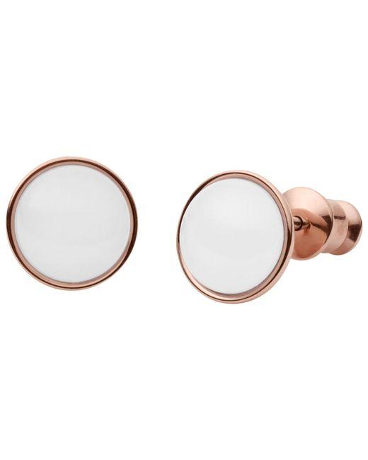 Skagen | Metallic Sea Glass Round Stud Earrings | Lyst