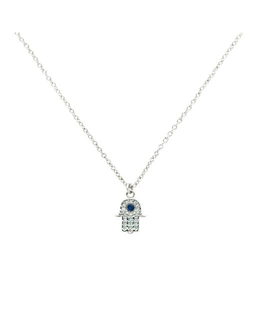 Melissa Odabash | Metallic Glass Crystal Hamsa Pendant Necklace | Lyst