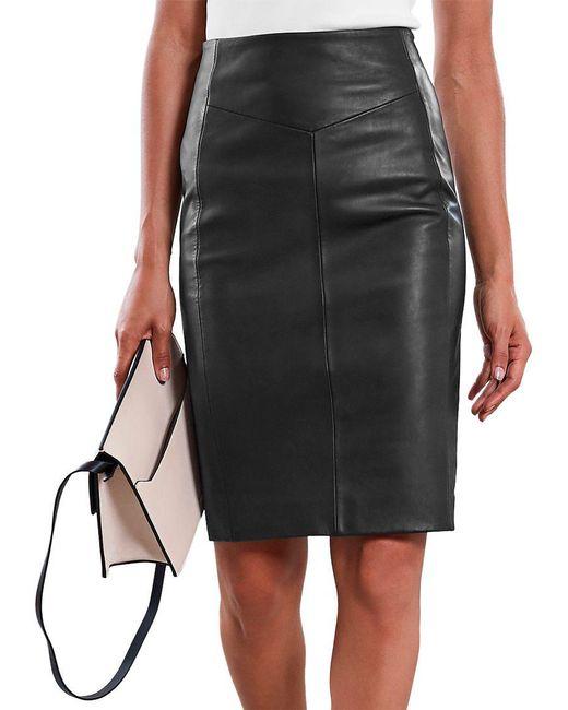 1cf50ee6b2 ... Reiss - Black Megan Leather Skirt - Lyst ...
