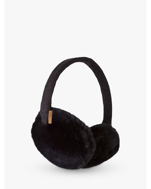 Barts Black Plush Earmuffs