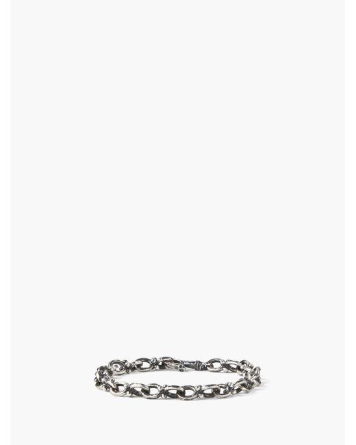 John Varvatos - Metallic Silver Chain Bracelet for Men - Lyst