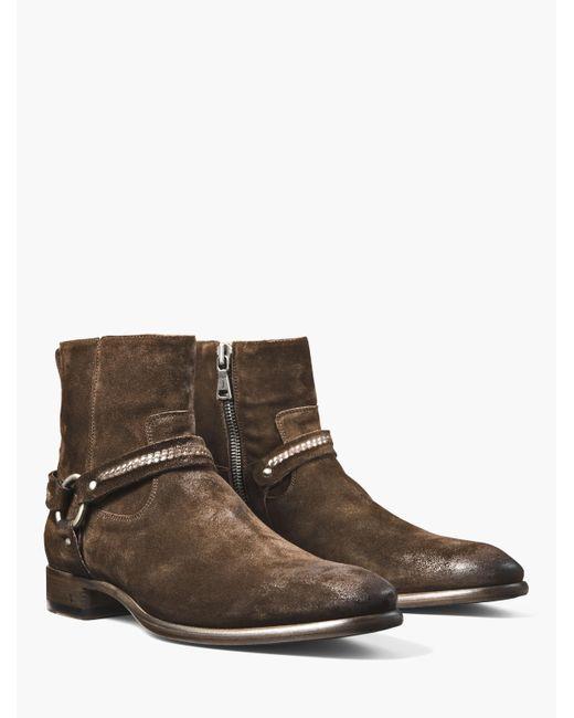 John Varvatos | Brown Eldridge Harness Boot for Men | Lyst