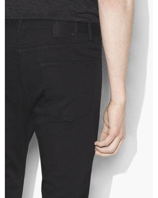 John Varvatos Black Bowery Knit Jean for men