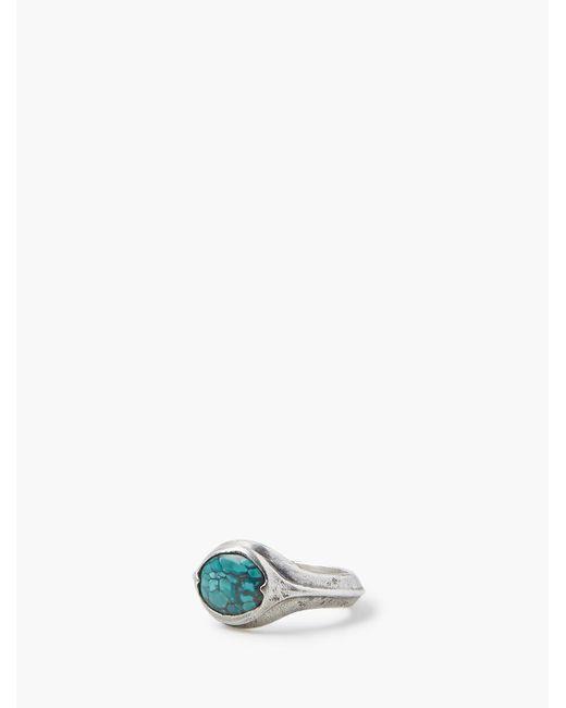 John Varvatos Multicolor Turquoise Ring for men