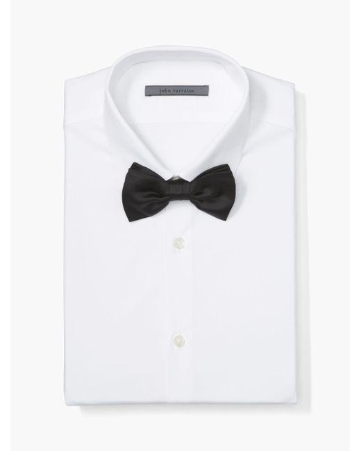 John Varvatos - Black Satin Bow Tie for Men - Lyst