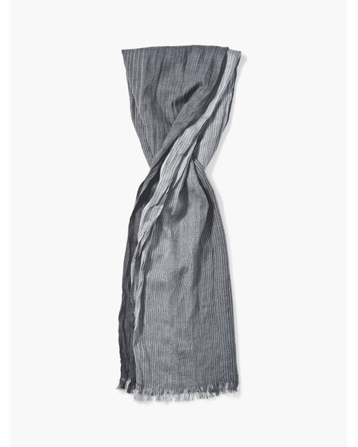 John Varvatos - Gray Striped Scarf for Men - Lyst