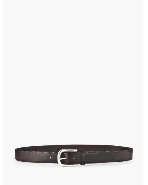 John Varvatos | Brown Edged Leather Belt for Men | Lyst