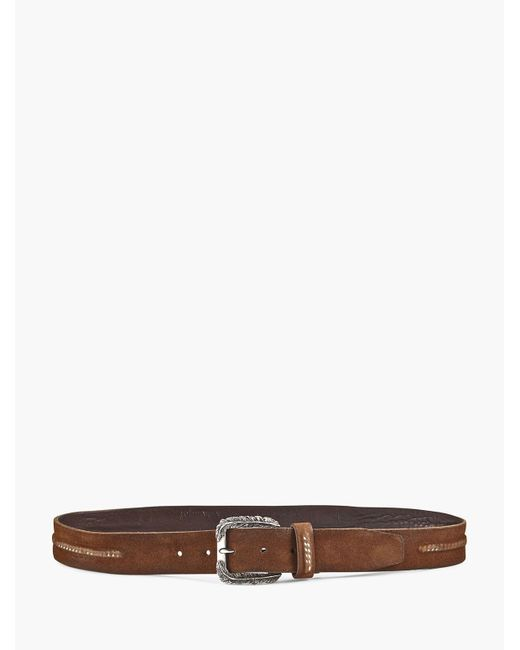 John Varvatos - Brown Feather Buckle Belt for Men - Lyst